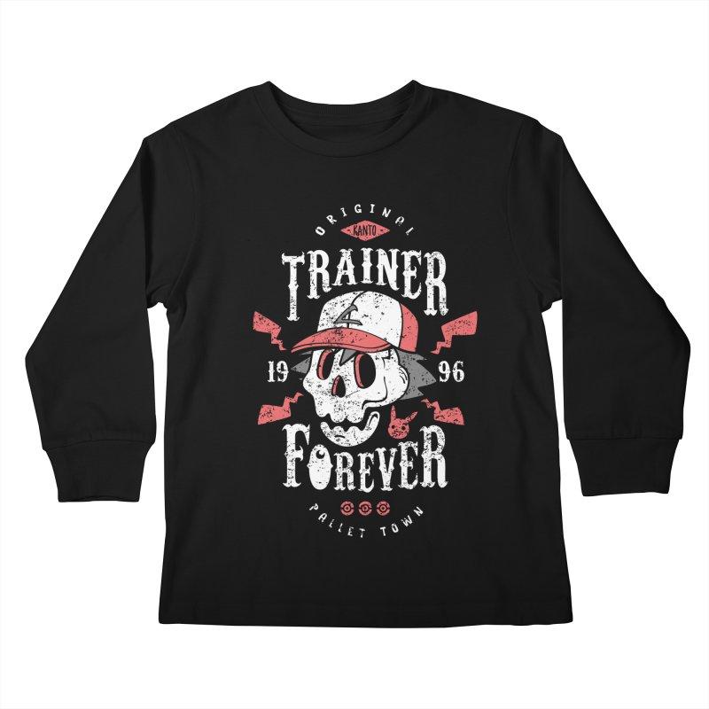 Trainer Forever Kids Longsleeve T-Shirt by Olipop Art & Design Shop