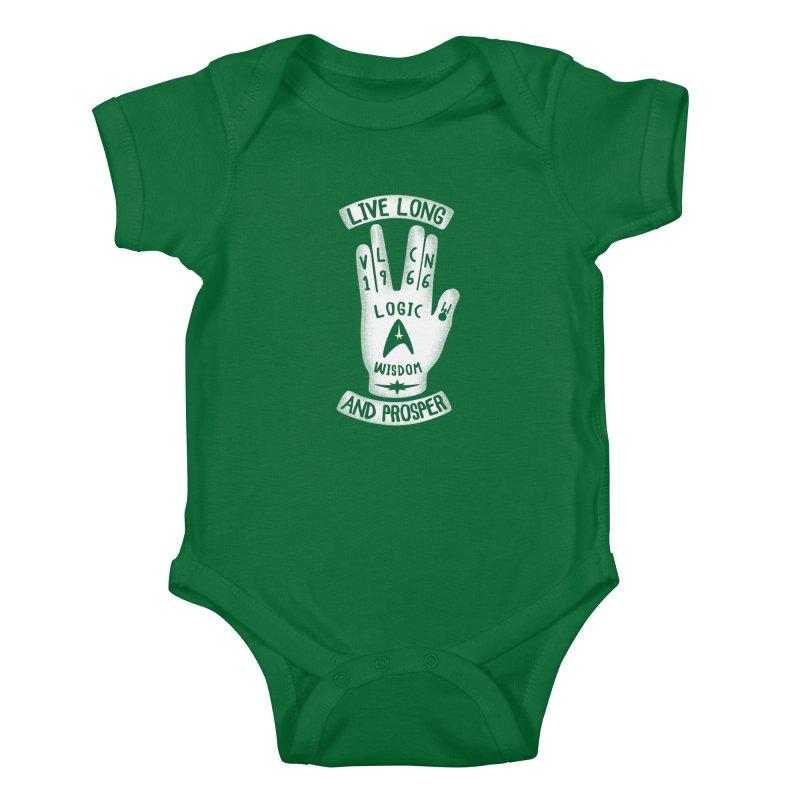 Vulcan Hand Kids Baby Bodysuit by Olipop Art & Design Shop