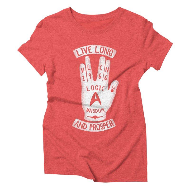 Vulcan Hand Women's Triblend T-Shirt by Olipop Art & Design Shop