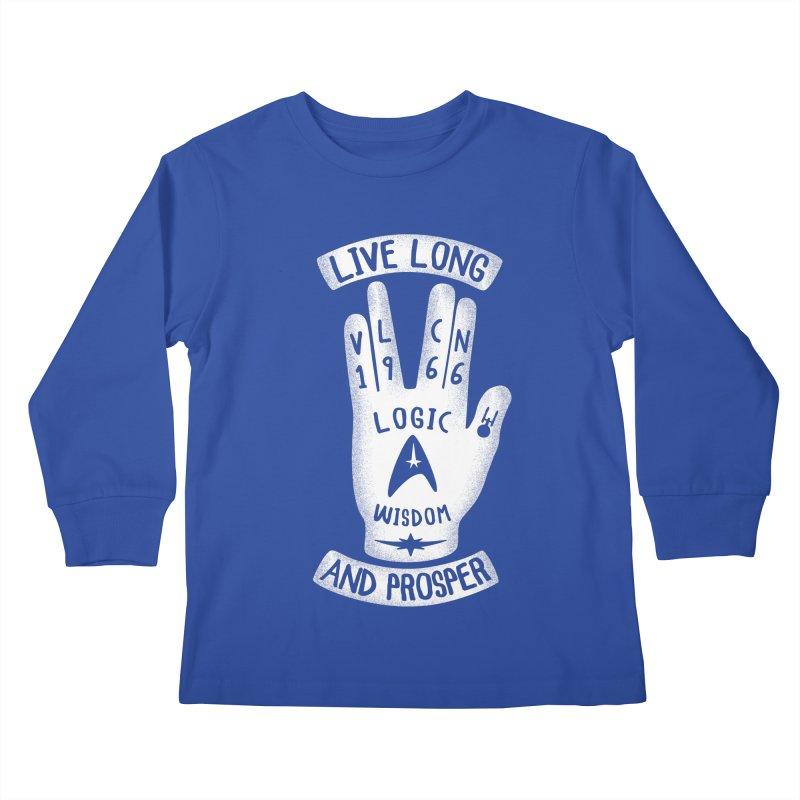Vulcan Hand Kids Longsleeve T-Shirt by Olipop Art & Design Shop