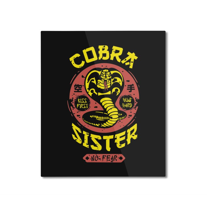 Cobra Sister Home Mounted Aluminum Print by Olipop Art & Design Shop