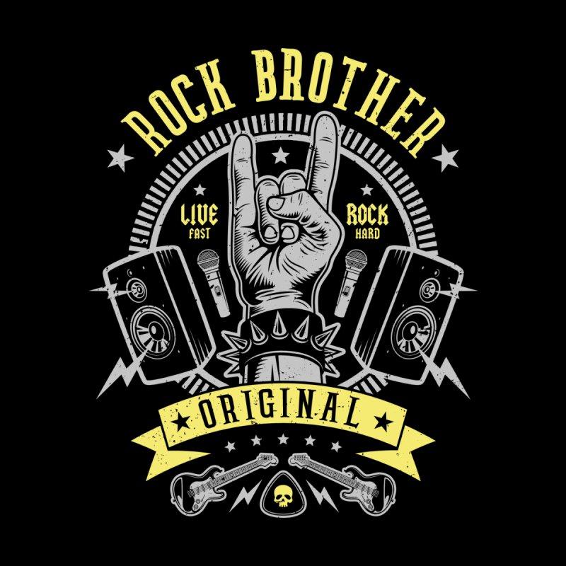 Rock Brother Home Mounted Aluminum Print by Olipop Art & Design Shop