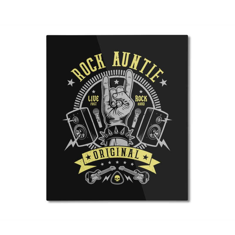 Rock Auntie Home Mounted Aluminum Print by Olipop Art & Design Shop