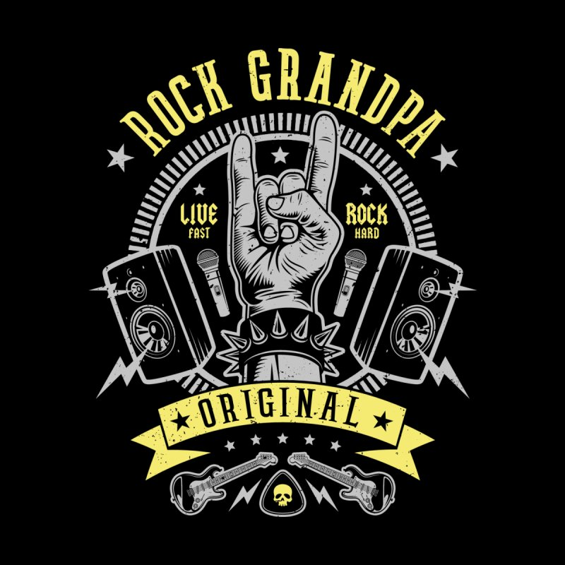 Rock Grandpa Home Mounted Aluminum Print by Olipop Art & Design Shop