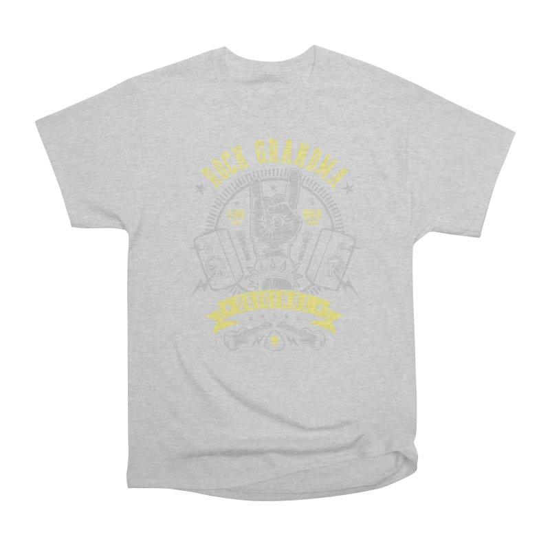Rock Grandma Men's T-Shirt by Olipop Art & Design Shop