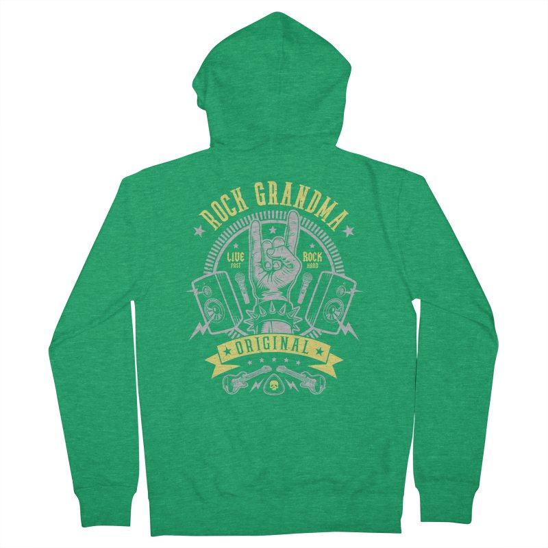 Rock Grandma Men's Zip-Up Hoody by Olipop Art & Design Shop