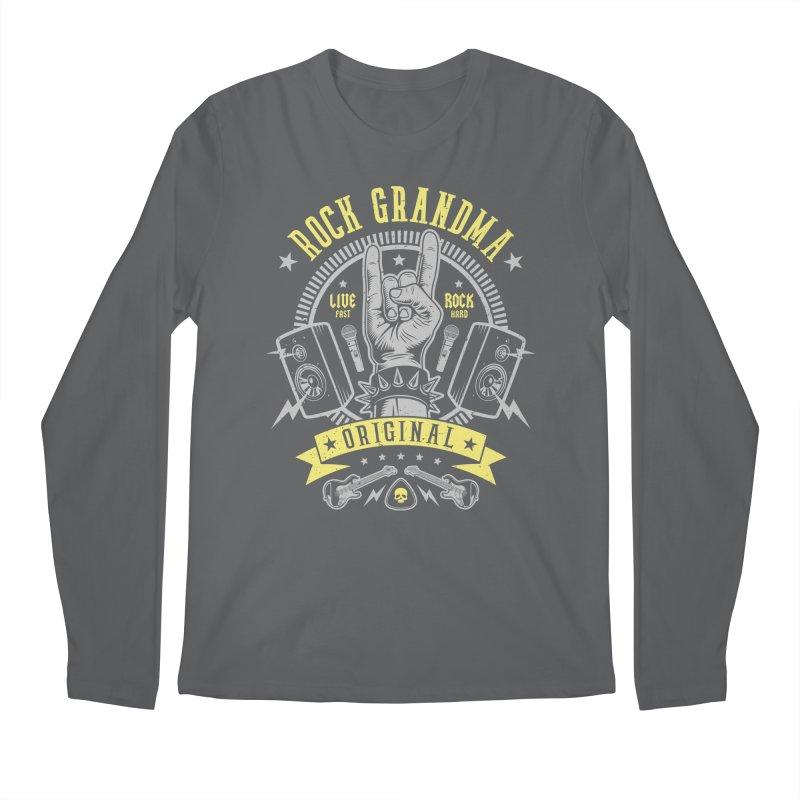 Rock Grandma Men's Longsleeve T-Shirt by Olipop Art & Design Shop