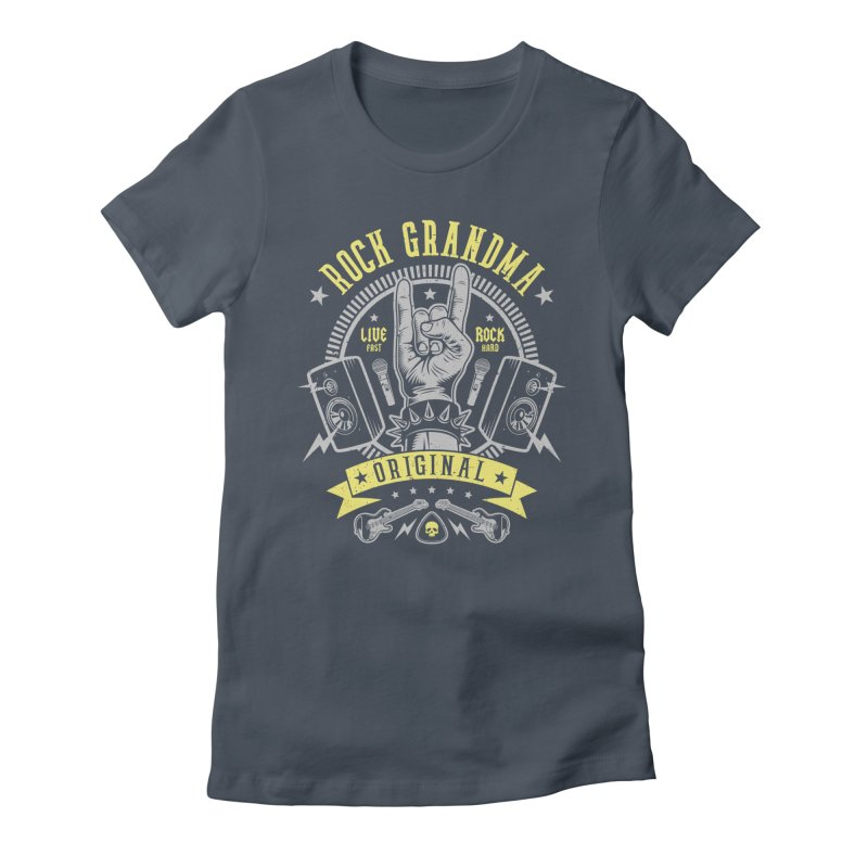 Rock Grandma Women's T-Shirt by Olipop Art & Design Shop