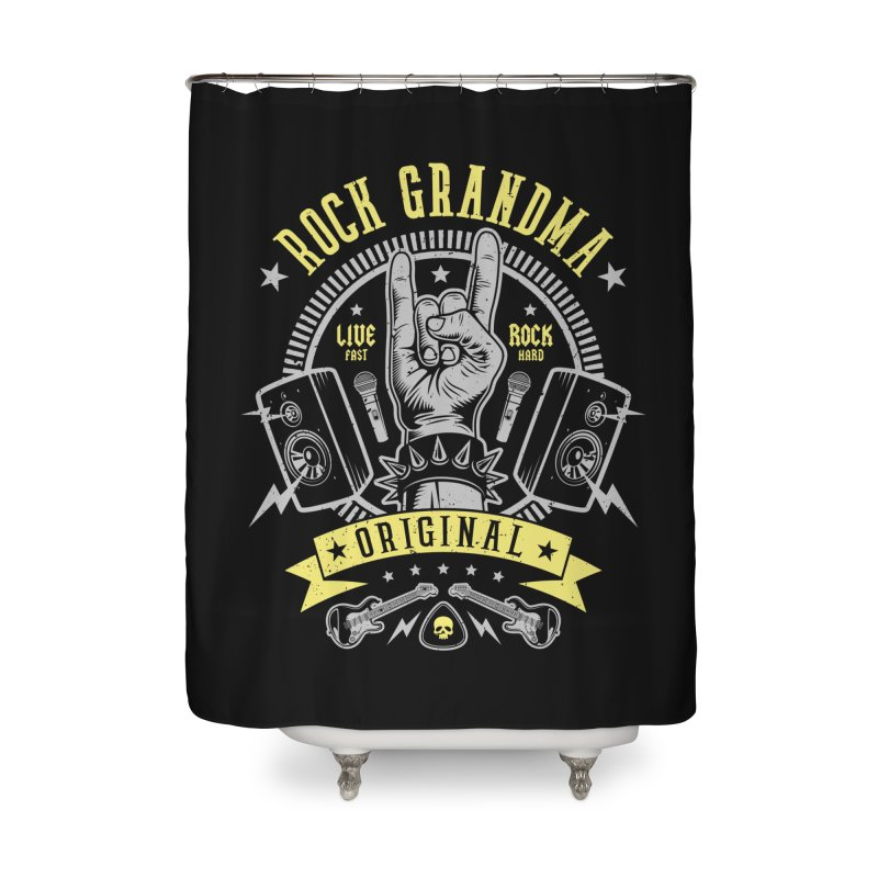 Rock Grandma Home Shower Curtain by Olipop Art & Design Shop