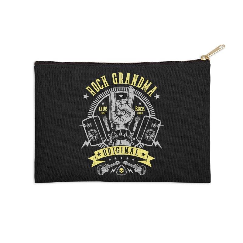 Rock Grandma Accessories Zip Pouch by Olipop Art & Design Shop