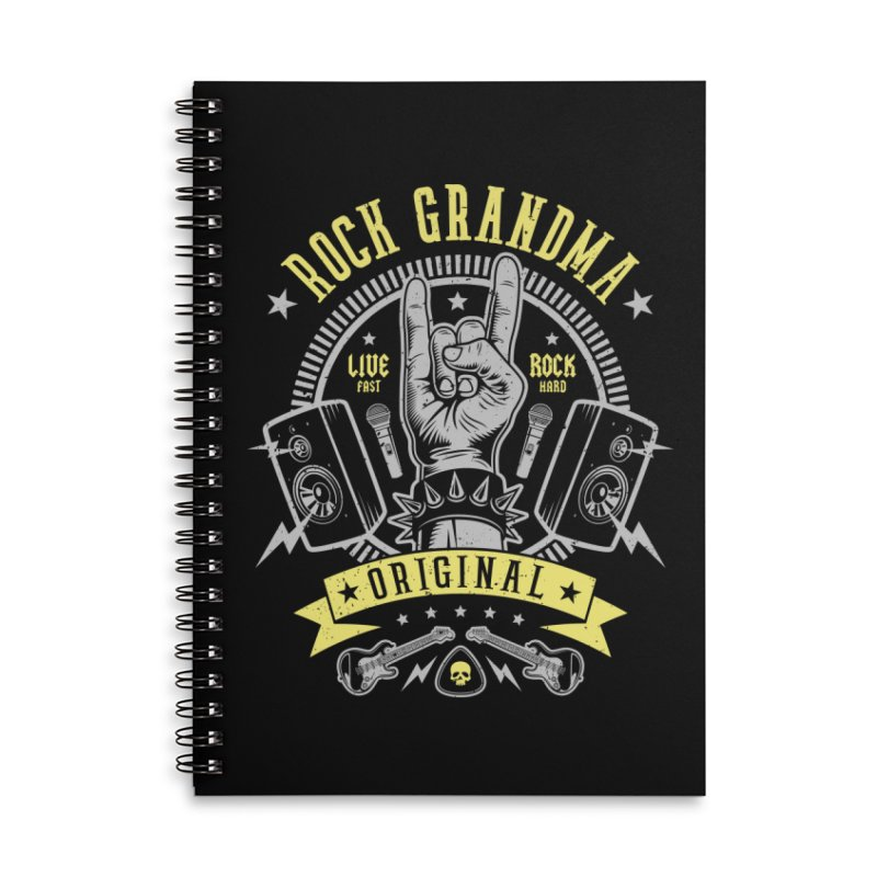 Rock Grandma Accessories Notebook by Olipop Art & Design Shop