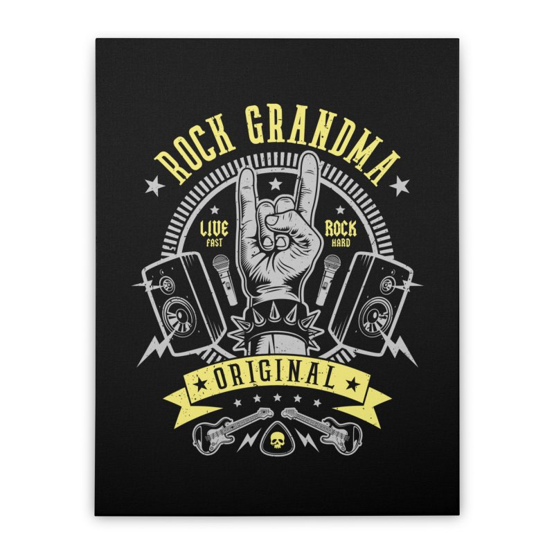 Rock Grandma Home Stretched Canvas by Olipop Art & Design Shop