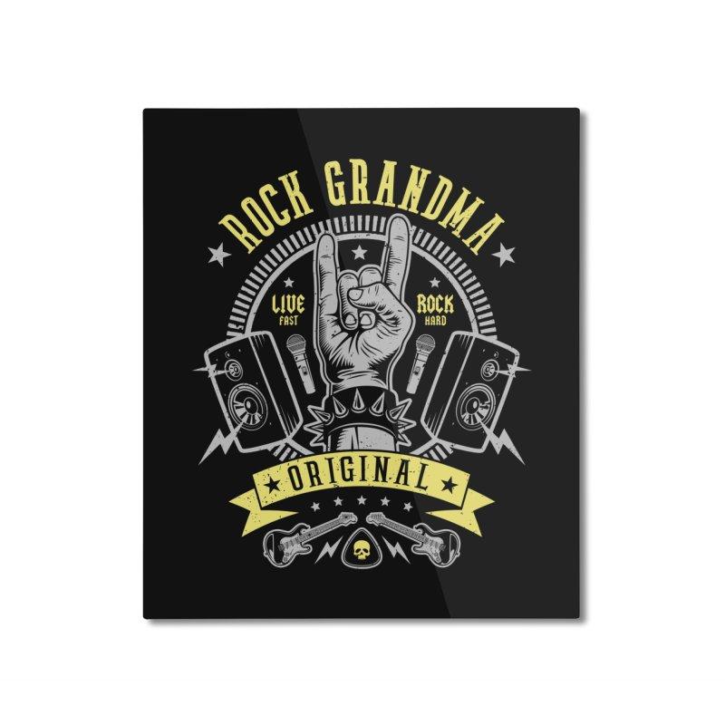 Rock Grandma Home Mounted Aluminum Print by Olipop Art & Design Shop
