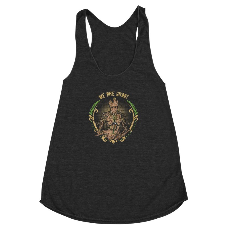 A Root for You Women's Racerback Triblend Tank by Olipop Art & Design Shop