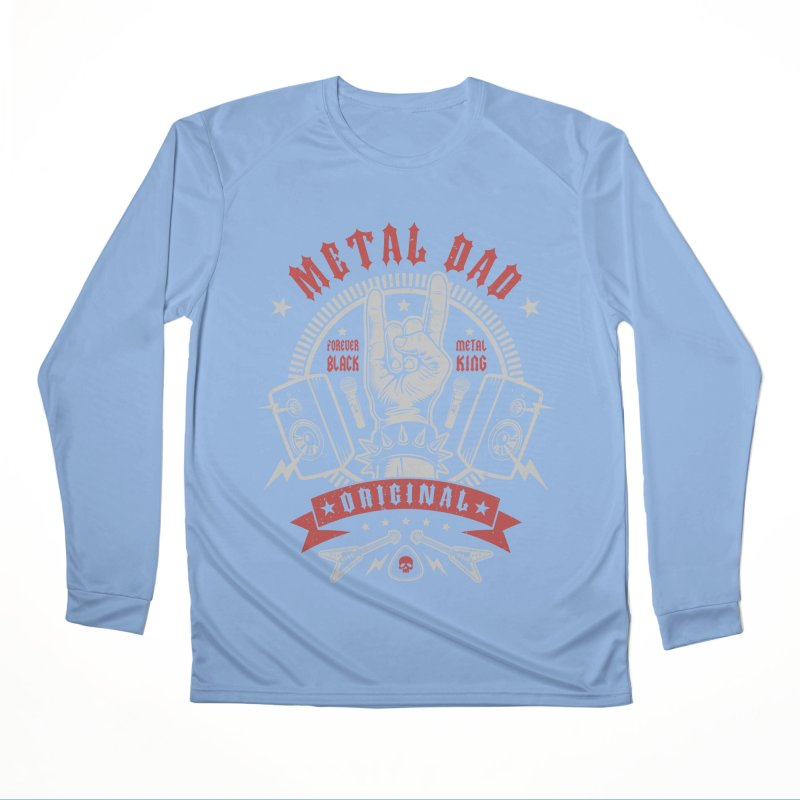 Metal Dad Women's Longsleeve T-Shirt by Olipop Art & Design Shop