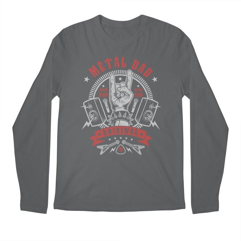 Metal Dad Men's Longsleeve T-Shirt by Olipop Art & Design Shop