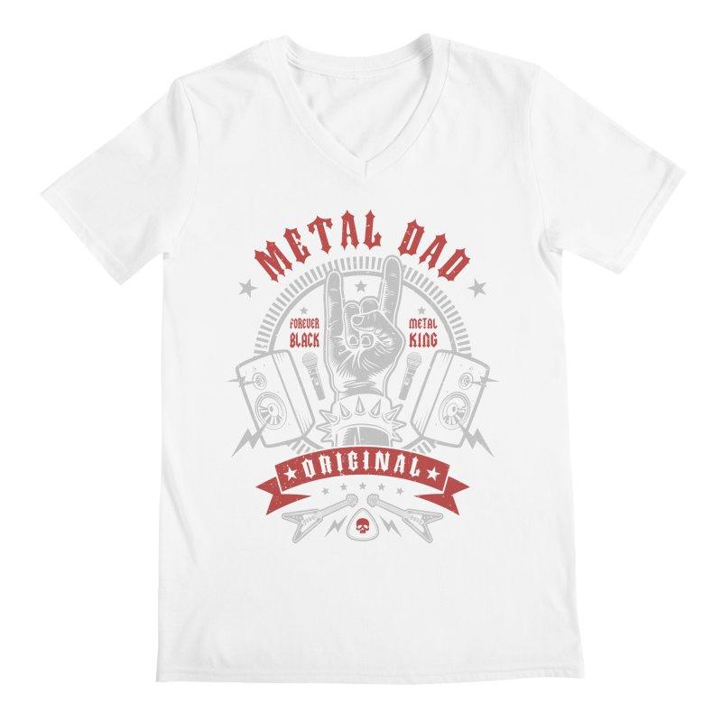 Metal Dad Men's V-Neck by Olipop Art & Design Shop