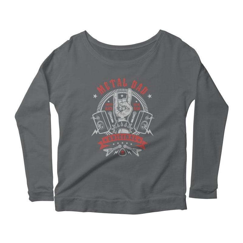 Metal Dad Women's Longsleeve T-Shirt by Olipop Art & Design Shop