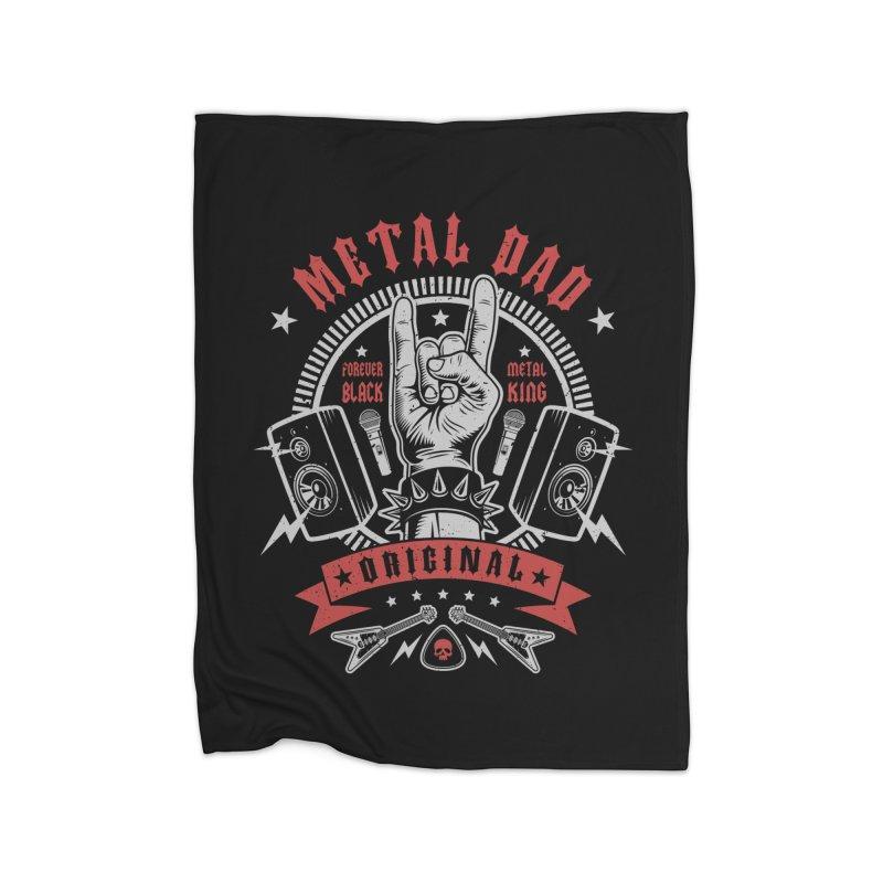 Metal Dad Home Blanket by Olipop Art & Design Shop