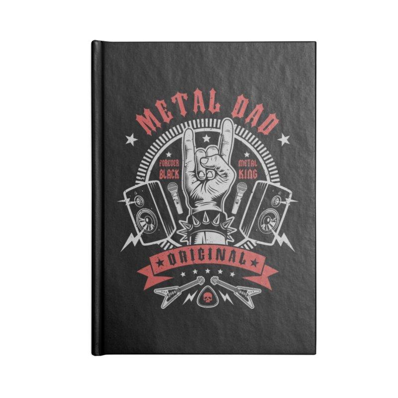 Metal Dad Accessories Notebook by Olipop Art & Design Shop