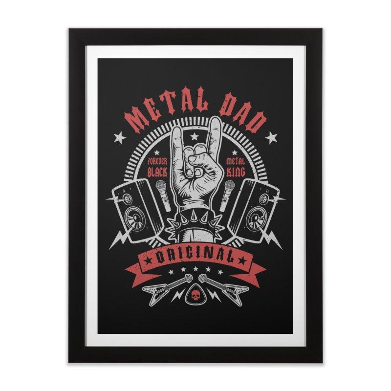 Metal Dad Home Framed Fine Art Print by Olipop Art & Design Shop