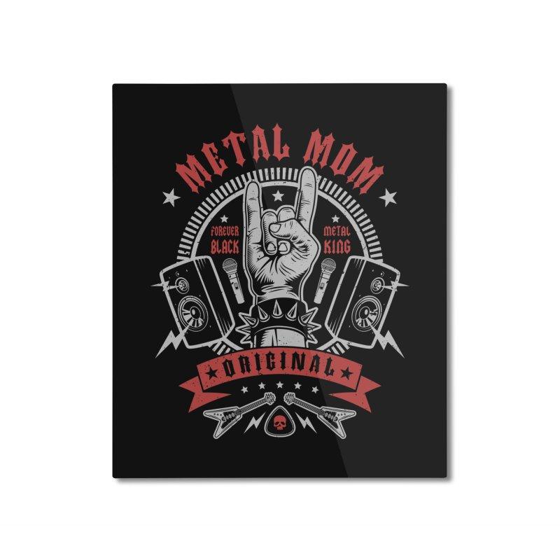 Metal Mom Home Mounted Aluminum Print by Olipop Art & Design Shop