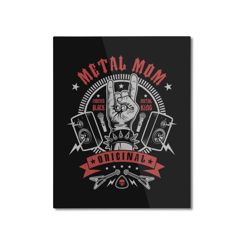 Metal Mom Home Mounted Aluminum Print by Olipop Art & Design Shop