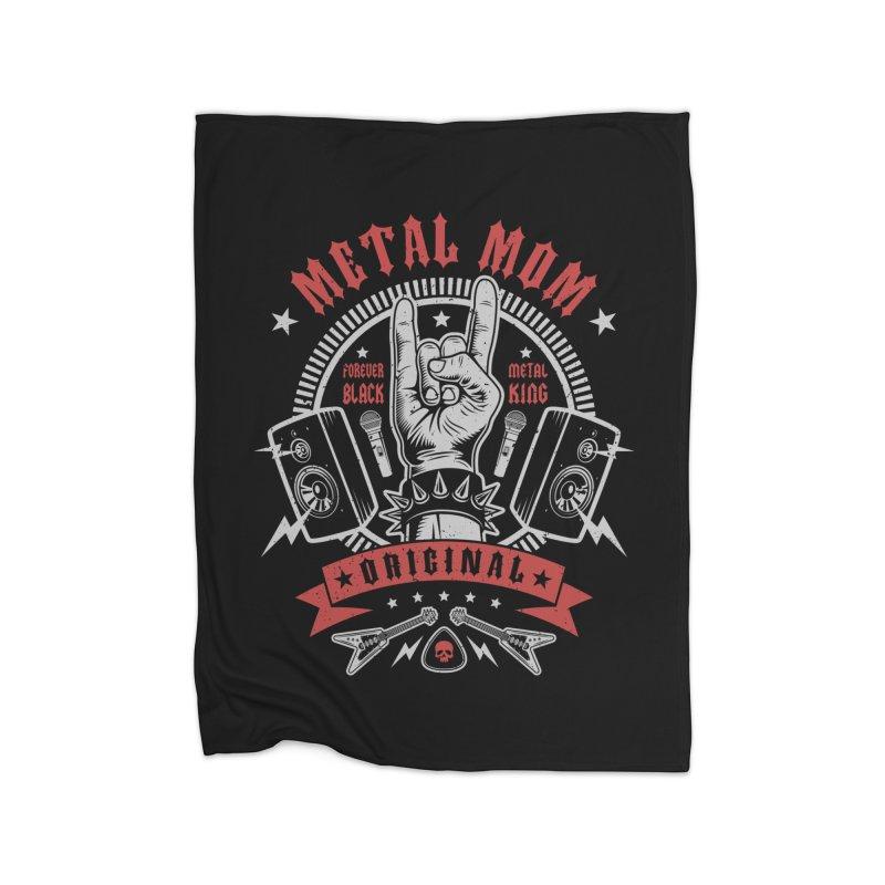 Metal Mom Home Blanket by Olipop Art & Design Shop