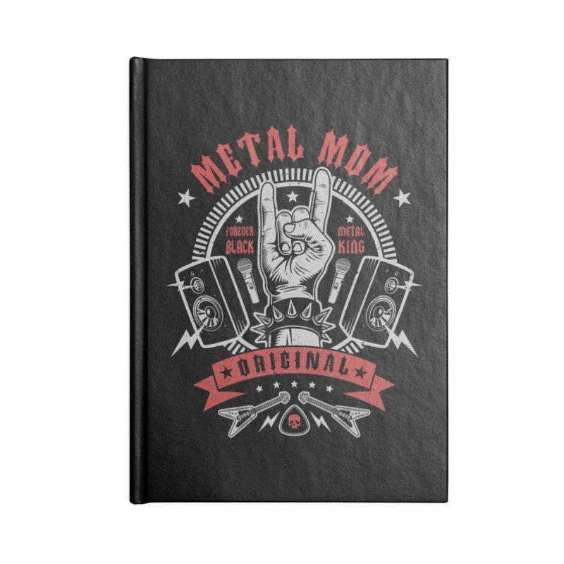 Metal Mom Accessories Notebook by Olipop Art & Design Shop