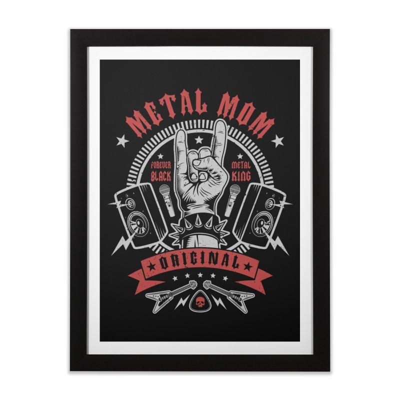 Metal Mom Home Framed Fine Art Print by Olipop Art & Design Shop