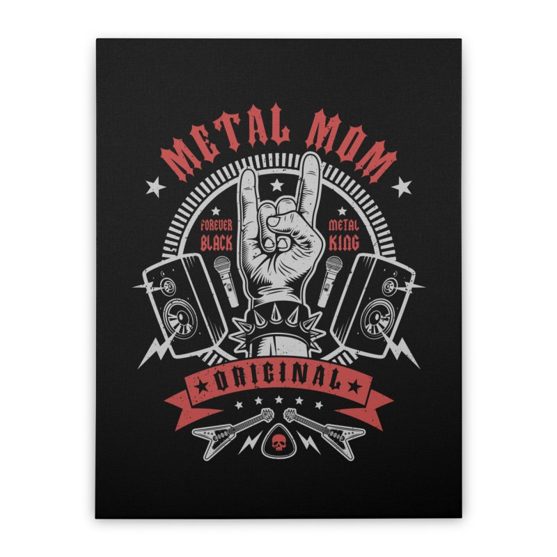 Metal Mom Home Stretched Canvas by Olipop Art & Design Shop