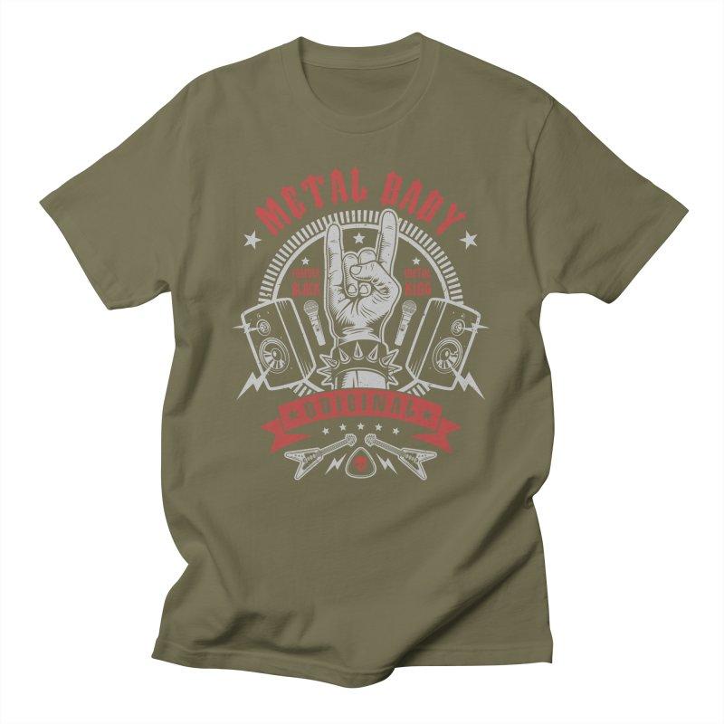 Metal Baby Men's T-Shirt by Olipop Art & Design Shop