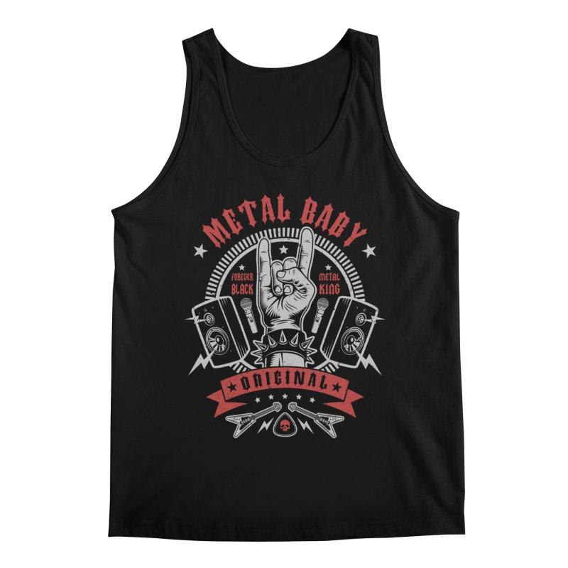 Metal Baby Men's Tank by Olipop Art & Design Shop