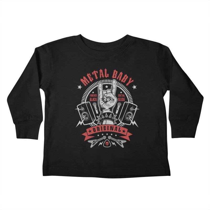 Metal Baby Kids Toddler Longsleeve T-Shirt by Olipop Art & Design Shop