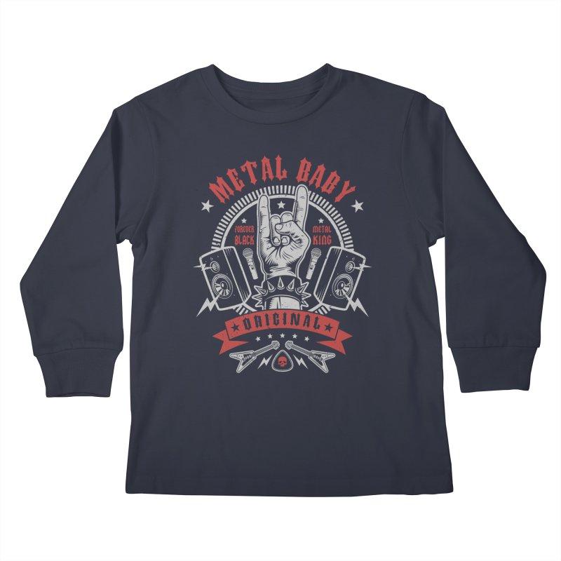 Metal Baby Kids Longsleeve T-Shirt by Olipop Art & Design Shop