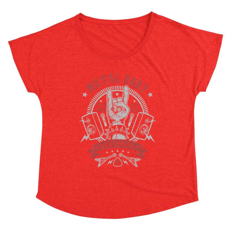 Metal Baby Women's Scoop Neck by Olipop Art & Design Shop