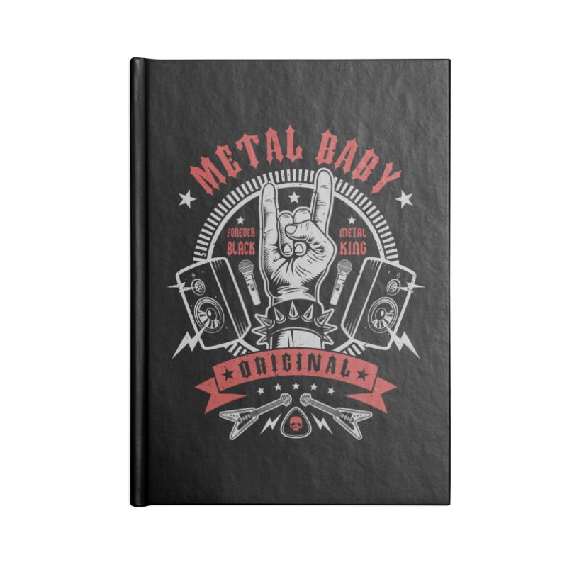 Metal Baby Accessories Notebook by Olipop Art & Design Shop