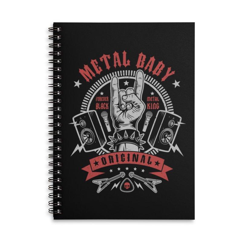 Metal Baby Accessories Notebook by Olipop Art & Design Shop