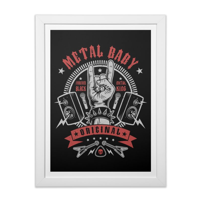 Metal Baby Home Framed Fine Art Print by Olipop Art & Design Shop