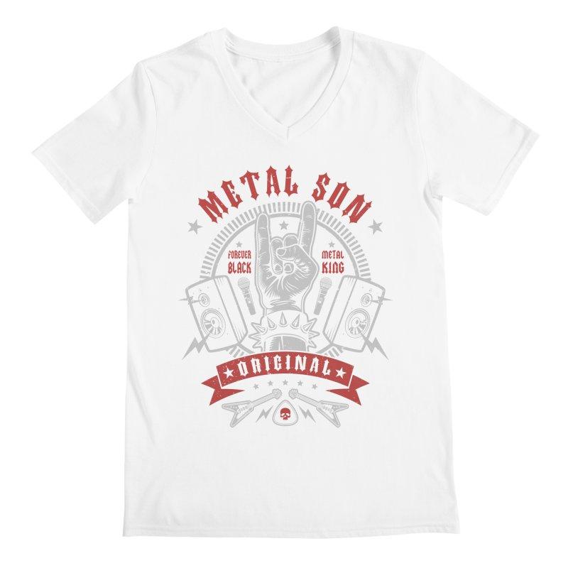 Metal Son Men's V-Neck by Olipop Art & Design Shop