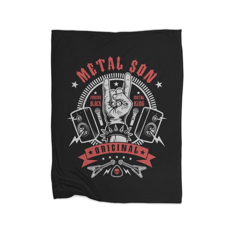 Metal Son Home Blanket by Olipop Art & Design Shop