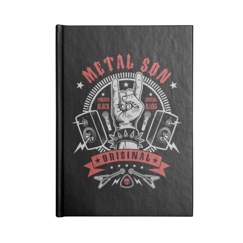 Metal Son Accessories Notebook by Olipop Art & Design Shop
