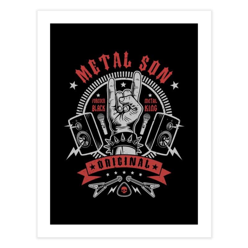 Metal Son Home Fine Art Print by Olipop Art & Design Shop