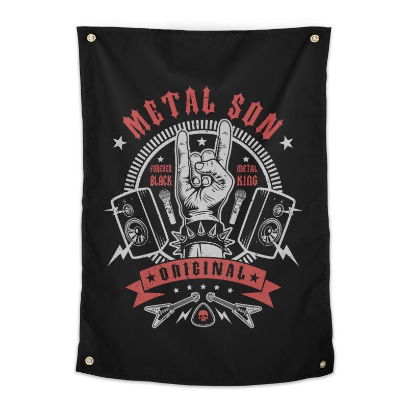 Metal Son Home Tapestry by Olipop Art & Design Shop