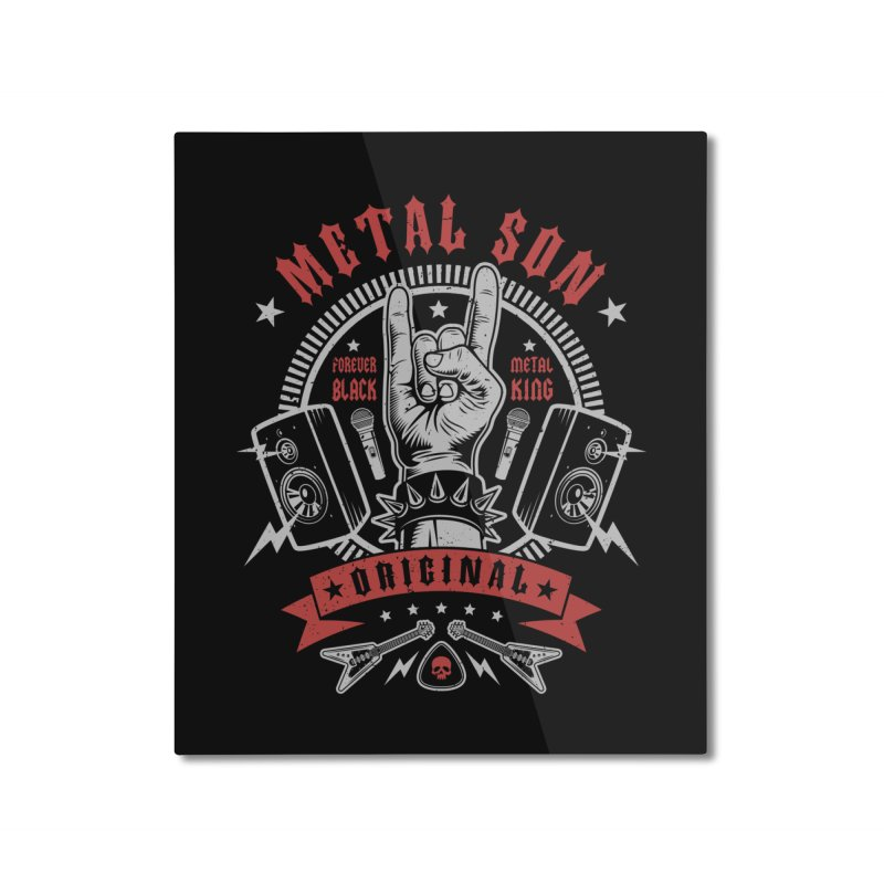 Metal Son Home Mounted Aluminum Print by Olipop Art & Design Shop