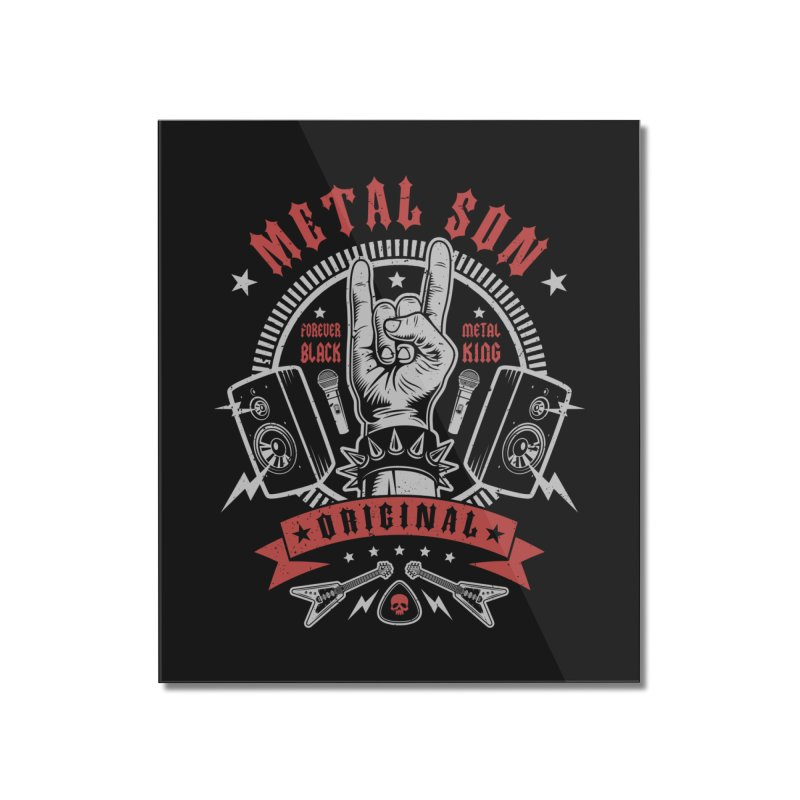 Metal Son Home Mounted Acrylic Print by Olipop Art & Design Shop