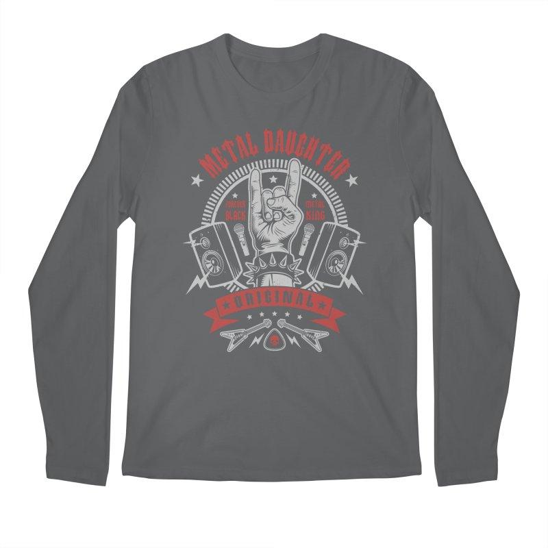 Metal Daughter Men's Longsleeve T-Shirt by Olipop Art & Design Shop