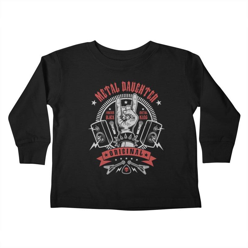 Metal Daughter Kids Toddler Longsleeve T-Shirt by Olipop Art & Design Shop