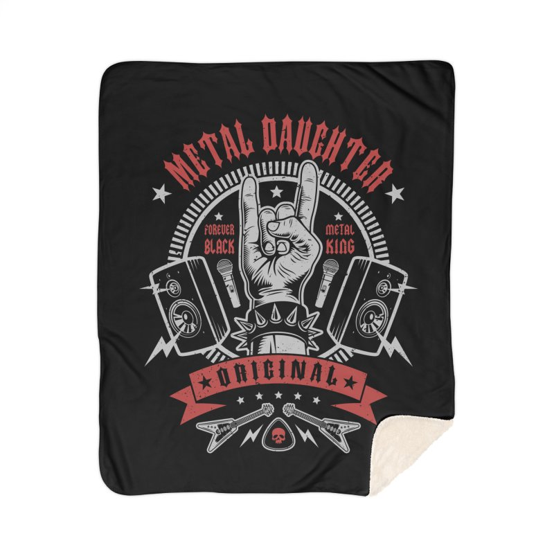 Metal Daughter Home Blanket by Olipop Art & Design Shop