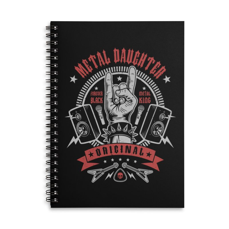Metal Daughter Accessories Notebook by Olipop Art & Design Shop